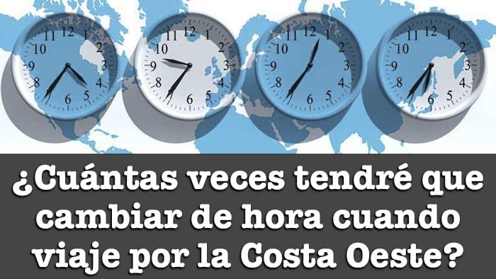 DIFERENCIA HORARIA ENTRE ESPAÑA Y LA COSTA OESTE DE EEUU