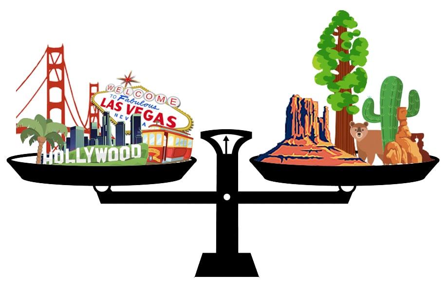 ciudad o naturaleza en la Costa Oeste de EEUU