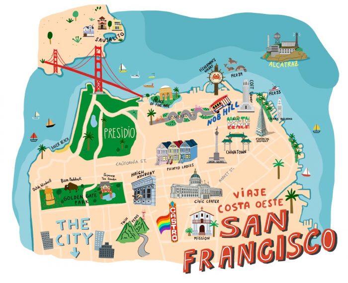 mapa que ver en san francisco