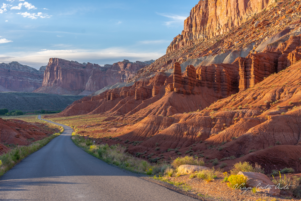 SCENIC DRIVE EN CAPITOL REEF NATIONAL PARK