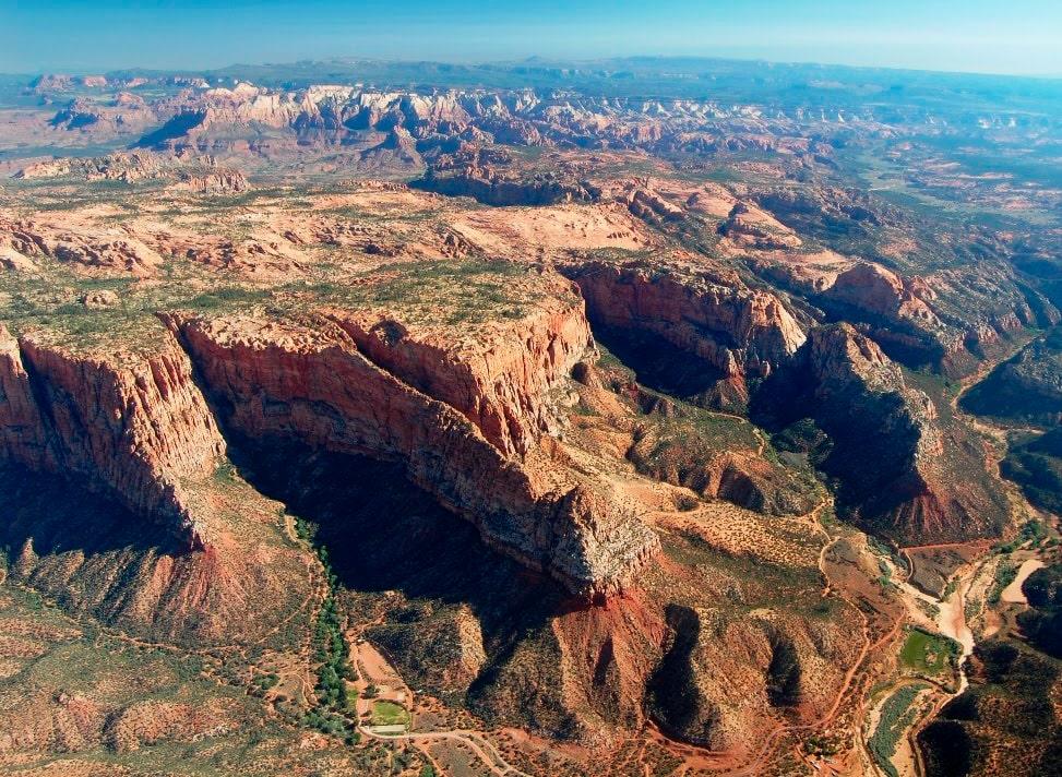 Vista aérea de Canaan Mountain