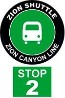ZION SHUTTLE BUS STOP 2