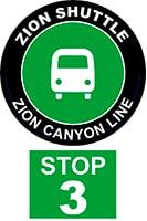 ZION SHUTTLE BUS STOP 3