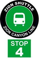 ZION SHUTTLE BUS STOP 4
