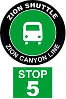 ZION SHUTTLE BUS STOP 5