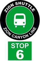 ZION SHUTTLE BUS STOP 6