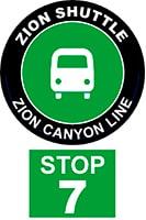 ZION SHUTTLE BUS STOP 7