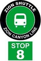 ZION SHUTTLE BUS STOP 8