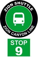 ZION SHUTTLE BUS STOP 9