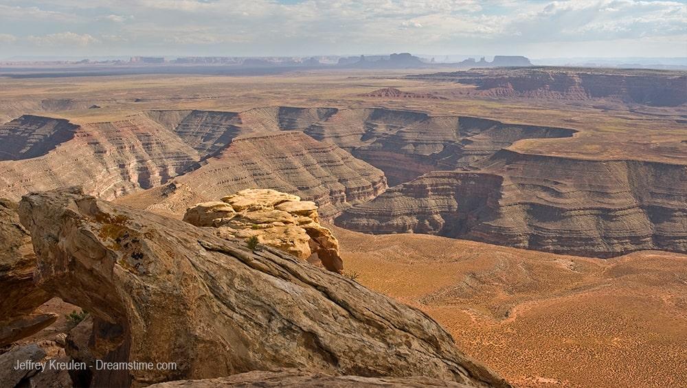 mirador de Muley Point cerca de Valley of the Gods Utah - El Valle de los Dioses