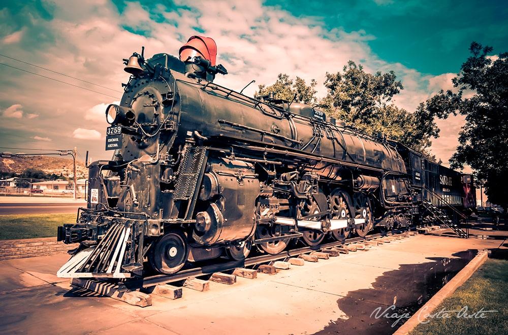Kingman locomotora de tren santa fe