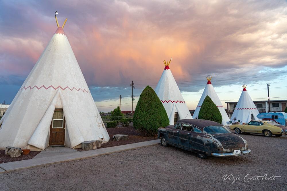 Tipis indios Wigwam Motel Holbrook Ruta 66