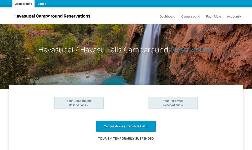 HAVASUPAI RESERVATIONS